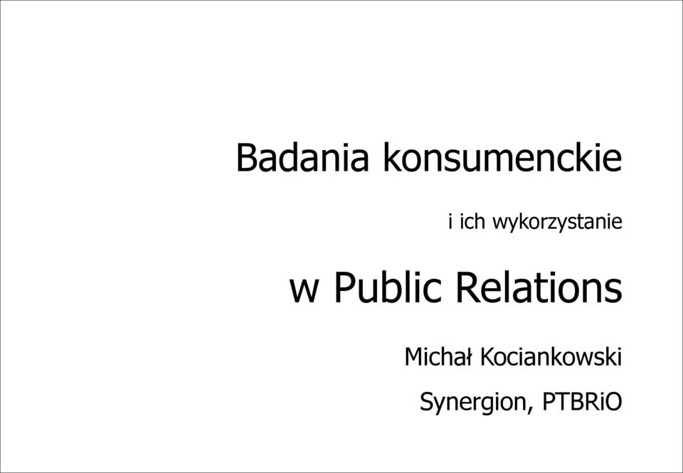 Public Relations Michał