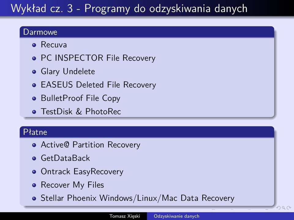 Recovery Glary Undelete EASEUS Deleted File Recovery BulletProof File Copy
