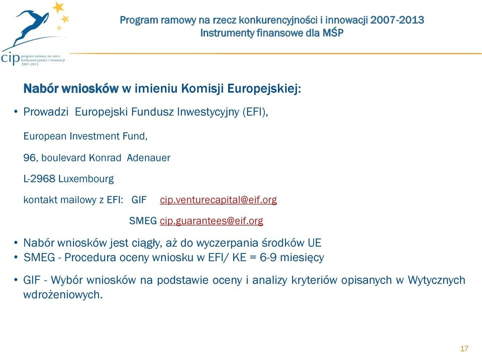 org SMEG cip.guarantees@eif.