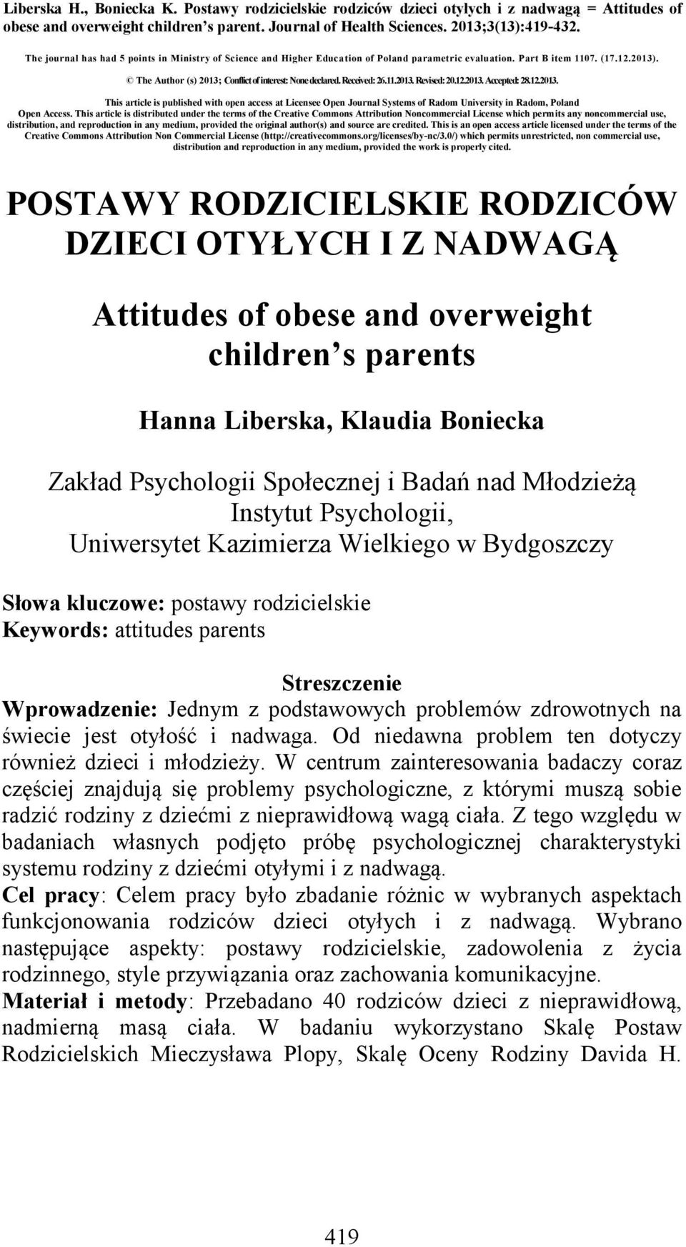 Received: 26.11.2013. Revised: 20.12.2013. Accepted: 28.12.2013. This article is published with open access at Licensee Open Journal Systems of Radom University in Radom, Poland Open Access.