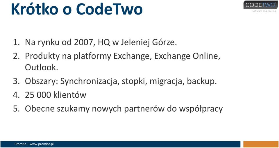 Produkty na platformy Exchange, Exchange Online, Outlook. 3.