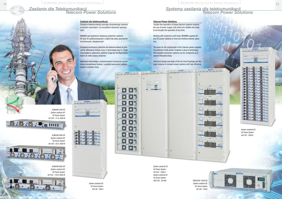 Telecom Power Solutions Trouble-free operation of todays telecom systems requires the use of power supply units which are reliable and ready to be brought into operation at any time.