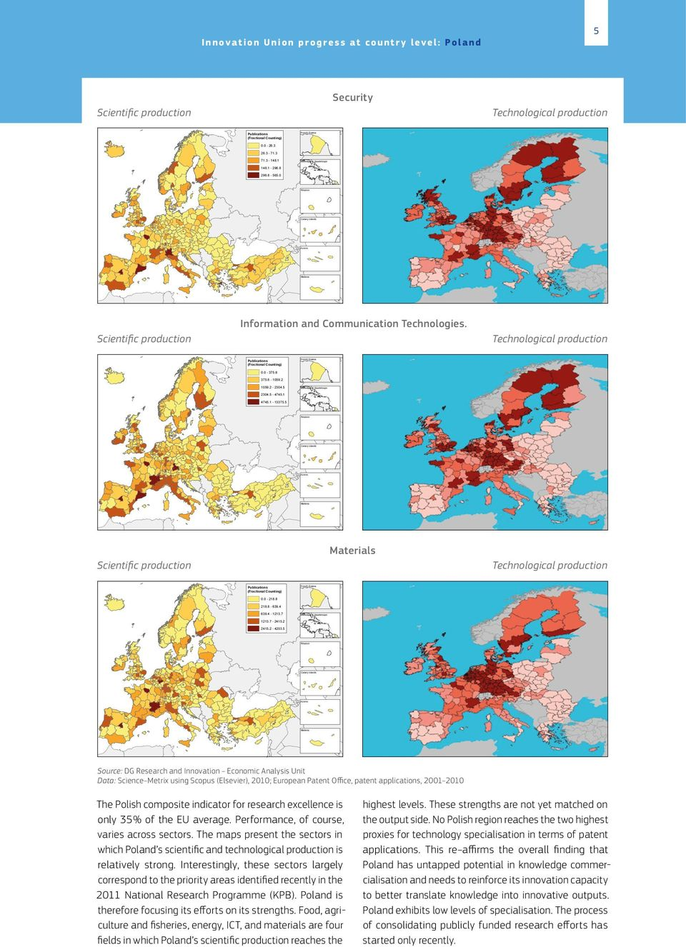 0 Réunion Canary Islands Azores Madeira Source: Compiled by Science-Metrix using data from Scopus (Elsevier) 0 250 500 1,000 1,500 Kilometers 2,000 Information and Communication Technologies.