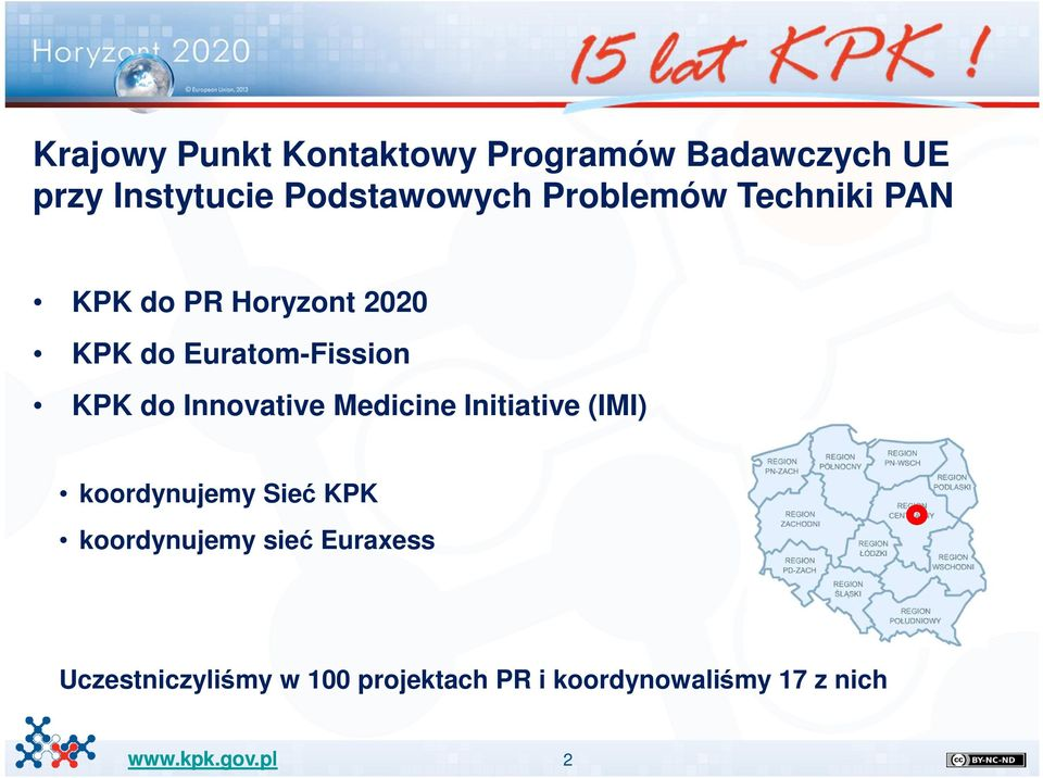 Euratom-Fission KPK do Innovative Medicine Initiative (IMI) koordynujemy