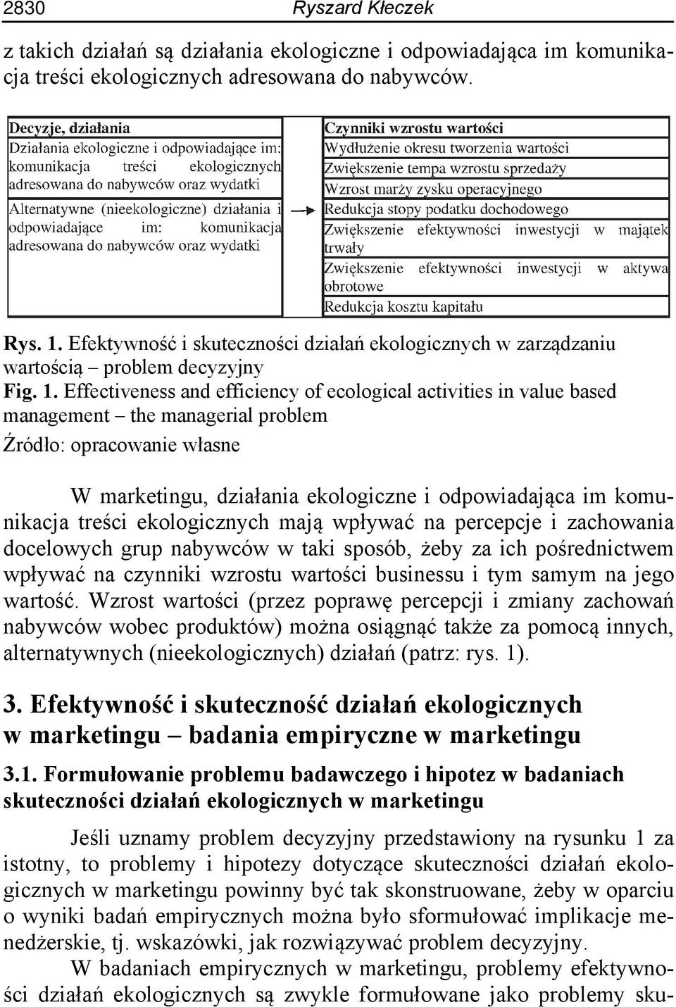 Effectiveness and efficiency of ecological activities in value based management the managerial problem Źródło: opracowanie własne W marketingu, działania ekologiczne i odpowiadająca im komunikacja