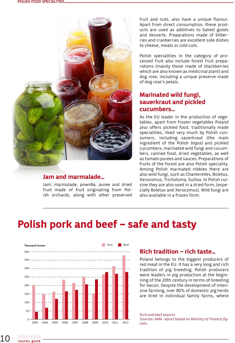 Polish specialities in the category of processed fruit also include forest fruit preparations (mainly those made of blackberries which are also known as medicinal plant) and dog rose, including a