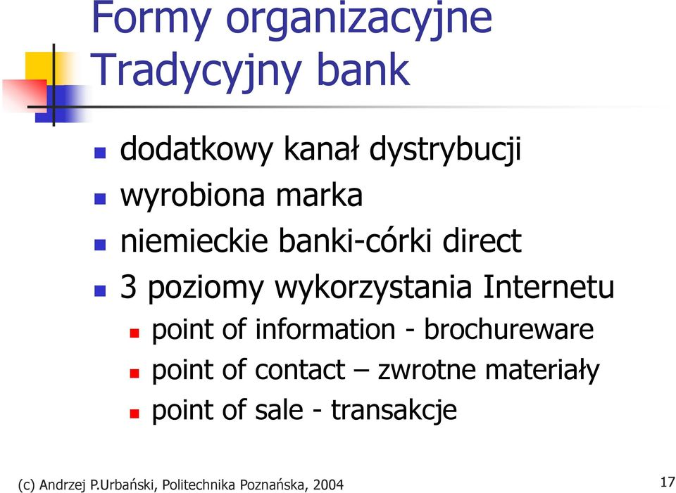 point of information - brochureware point of contact zwrotne materiały
