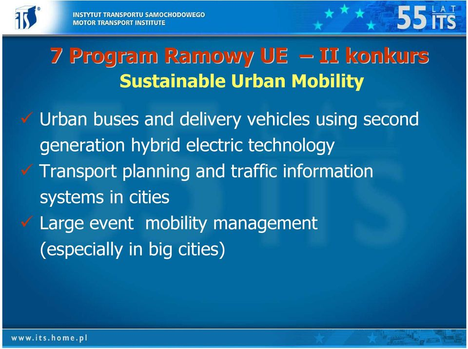 electric technology Transport planning and traffic information