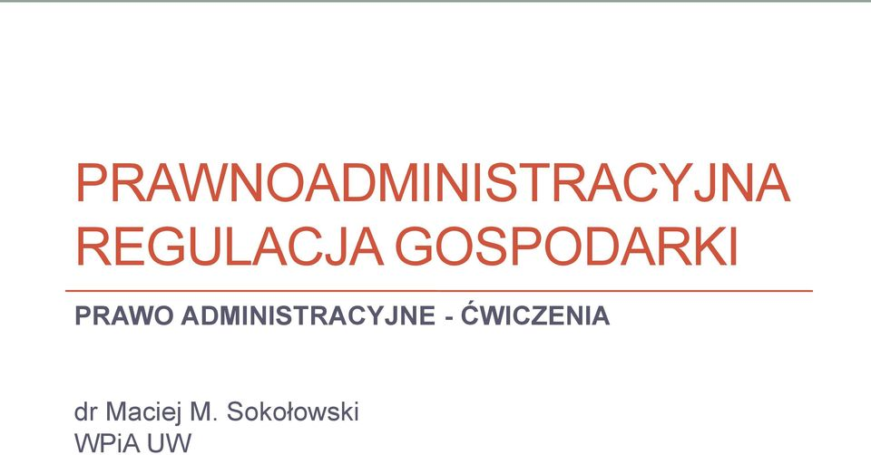 ADMINISTRACYJNE -