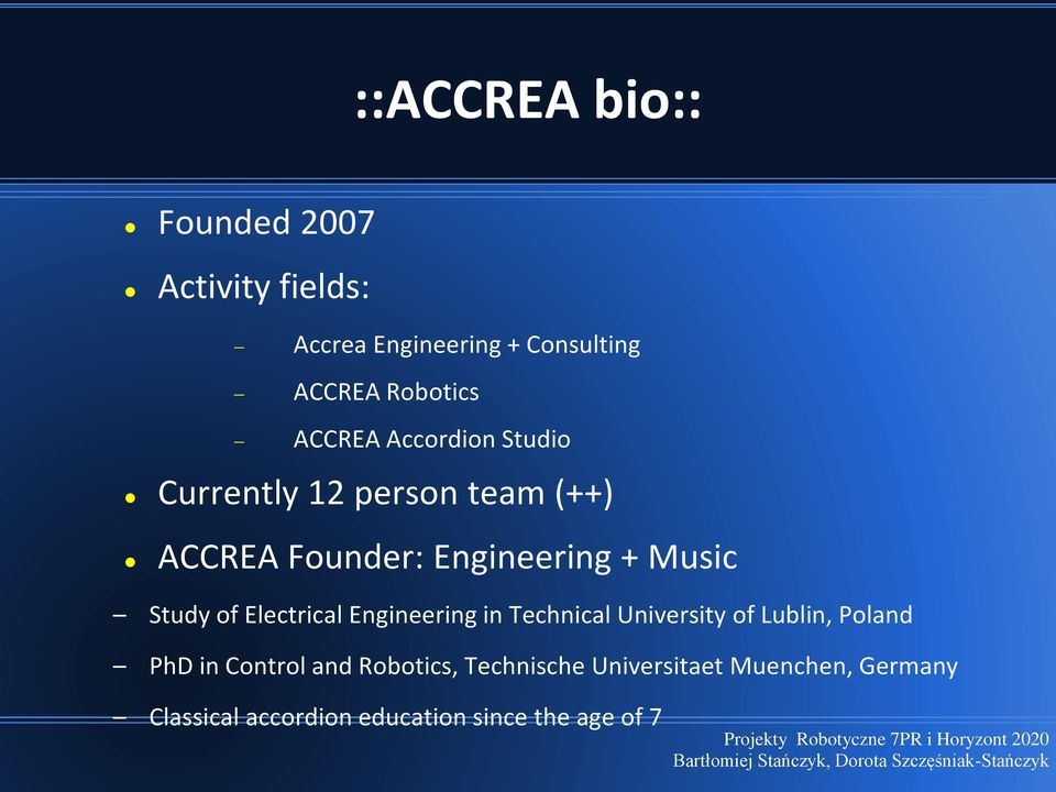 Study of Electrical Engineering in Technical University of Lublin, Poland PhD in Control and