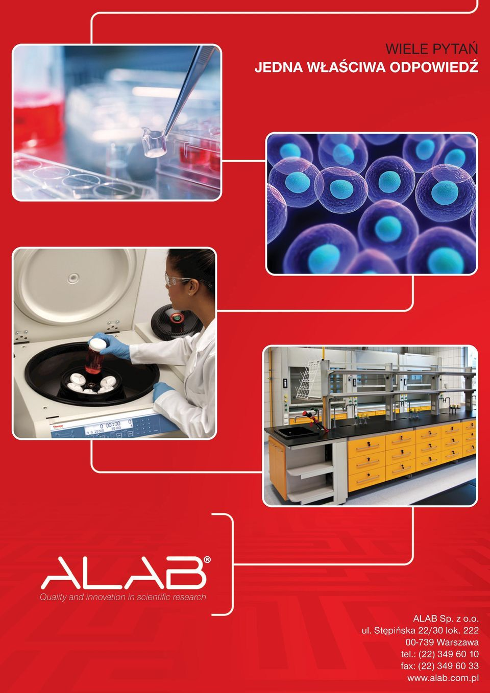 innovation in scientific research ALAB Sp. z o.o. ul.