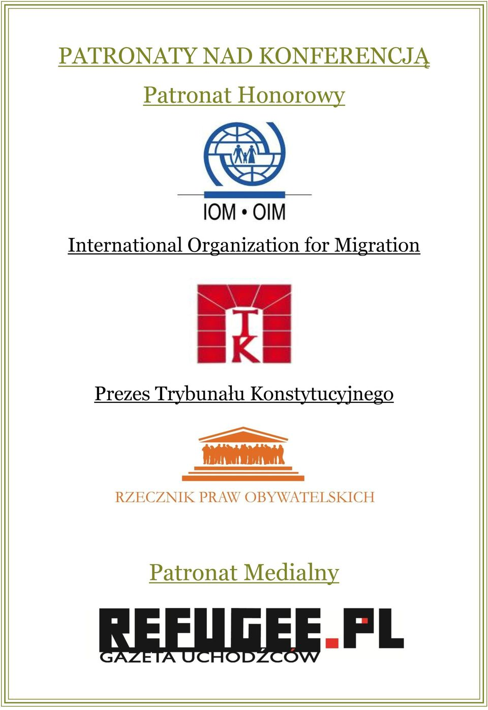Organization for Migration Prezes