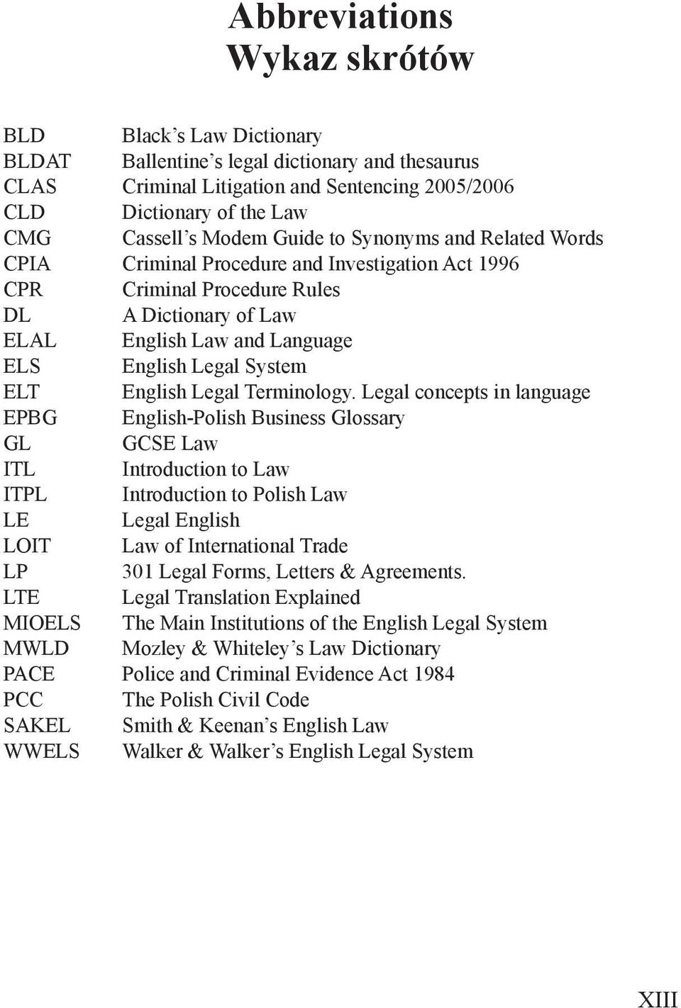 ELT English Legal Terminology.