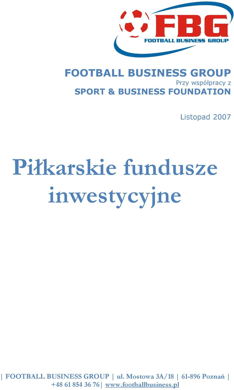BUSINESS FOUNDATION Listopad