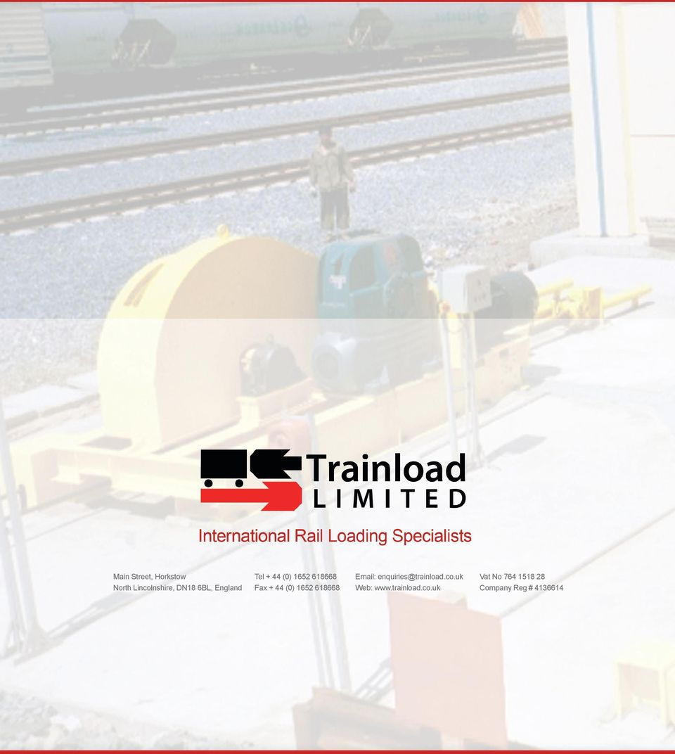 618668 Email: enquiries@trainload.co.uk Web: www.