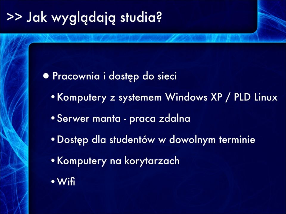 Windows XP / PLD Linux Serwer manta - praca