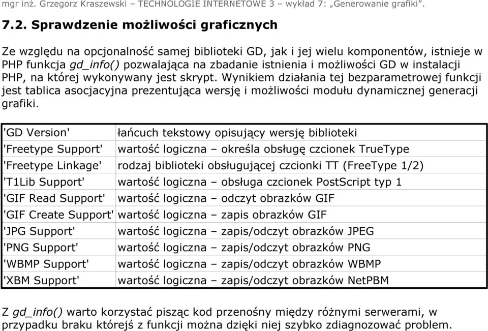 'GD Version' 'Freetype Support' 'Freetype Linkage' 'T1Lib Support' 'GIF Read Support' 'GIF Create Support' 'JPG Support' 'PNG Support' 'WBMP Support' 'XBM Support' łańcuch tekstowy opisujący wersję