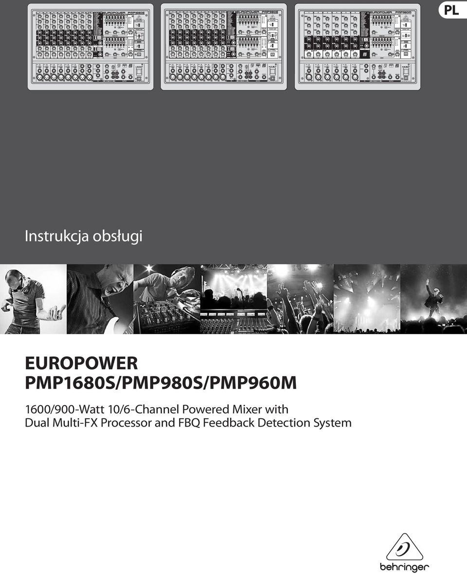 10/6-Channel Powered Mixer with Dual