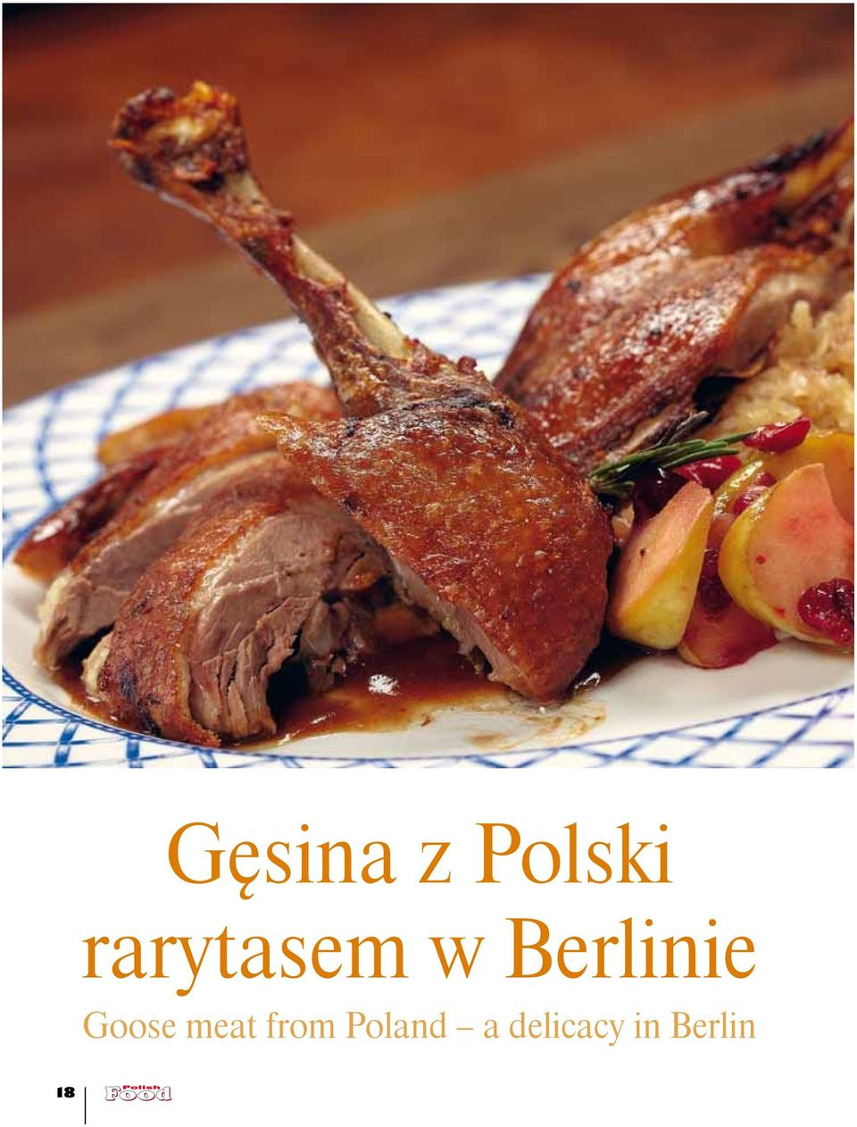 w Berlinie Goose meat from