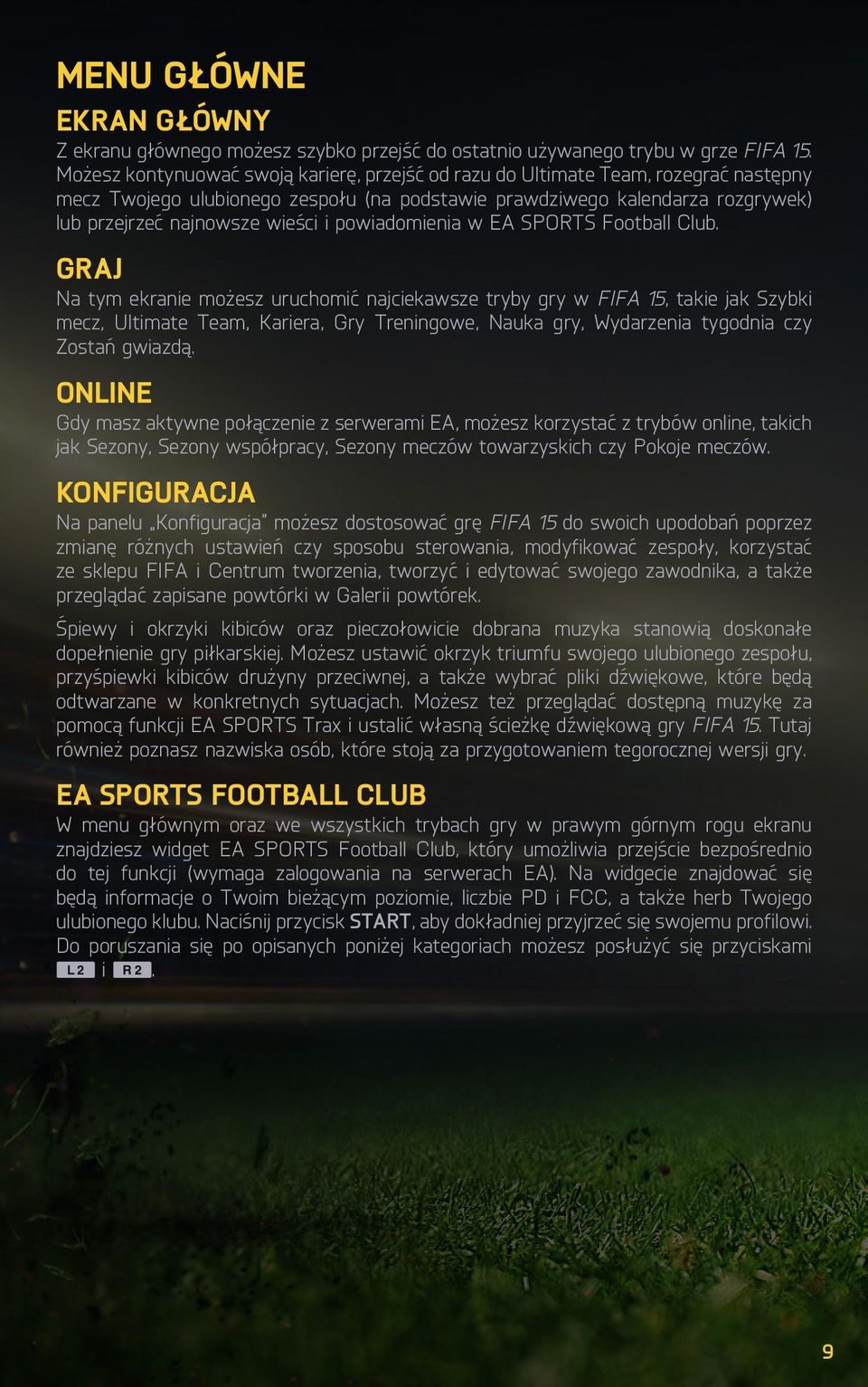 powiadomienia w EA SPORTS Football Club.