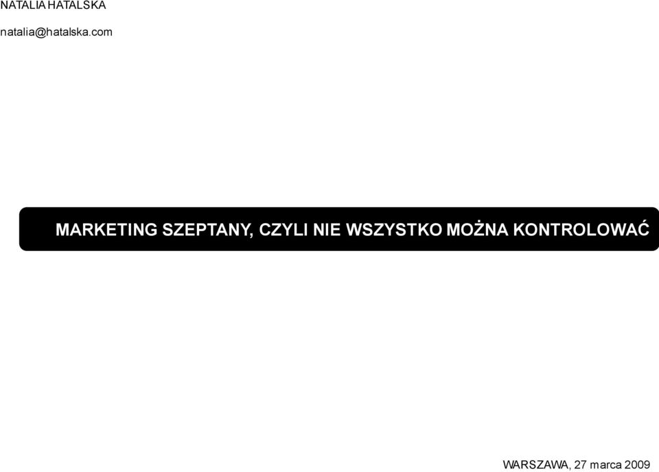 com MARKETING SZEPTANY, CZYLI
