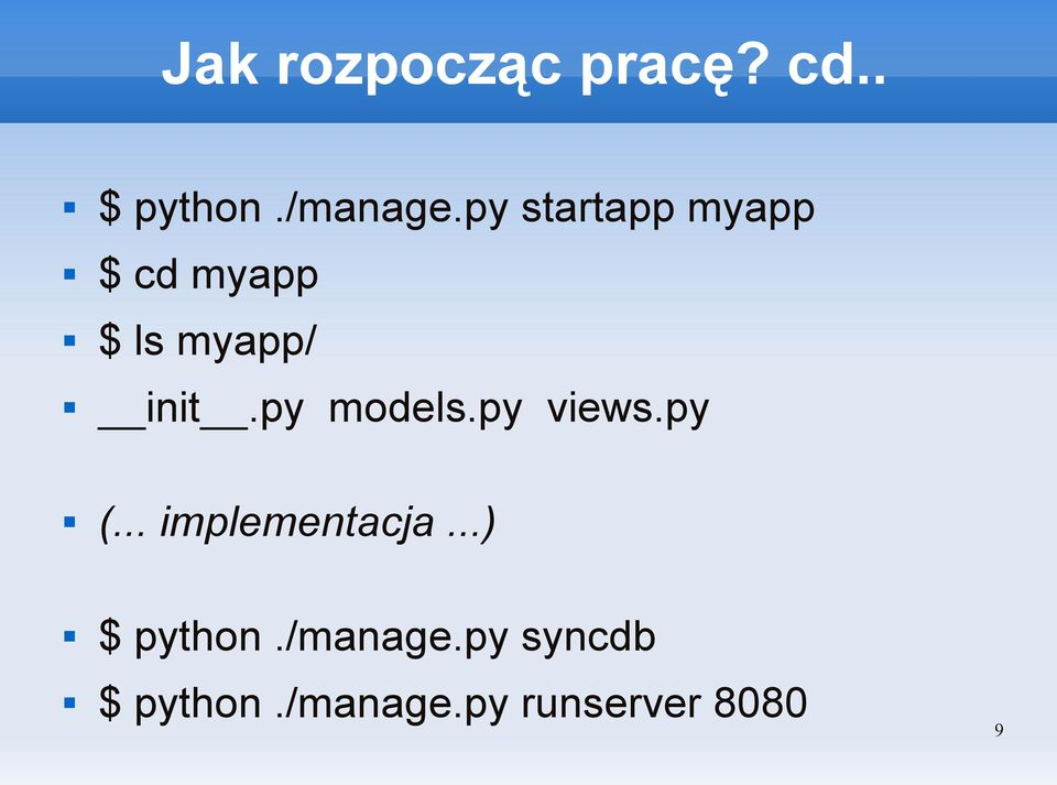 py models.py views.py (... implementacja.