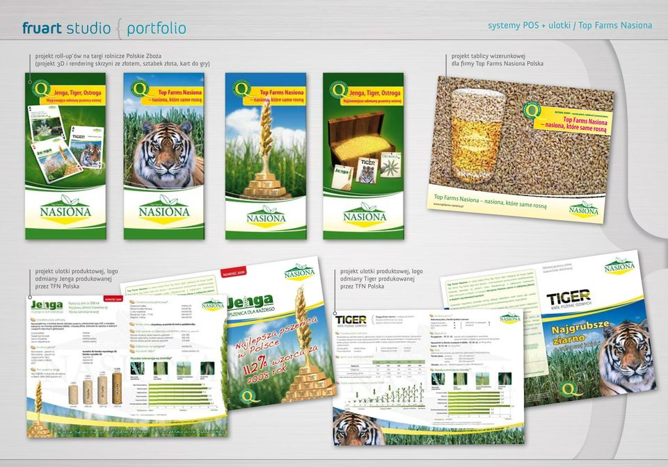 pl projekt ulotki produktowej, logo odmiany Jenga produkowanej przez TFN Polska 2009 NOWOŚĆ łek Grupy Spó eżącej do s Agro nal owanego y Top Farm em kwalifik i marka firm producent hodowcam to nowa