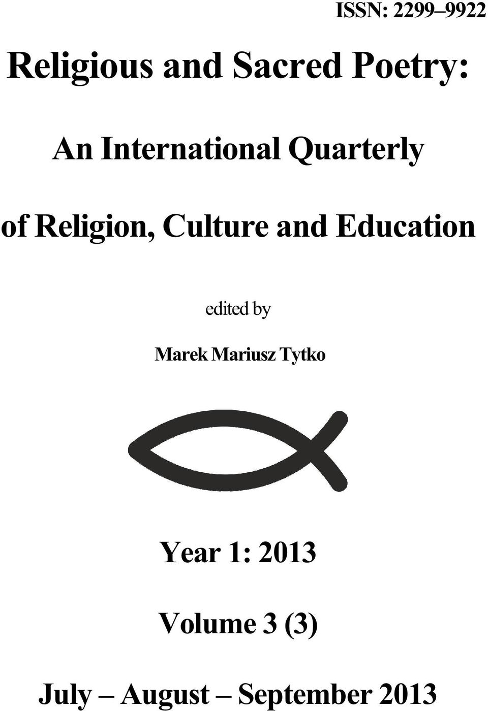 and Education edited by Marek Mariusz Tytko