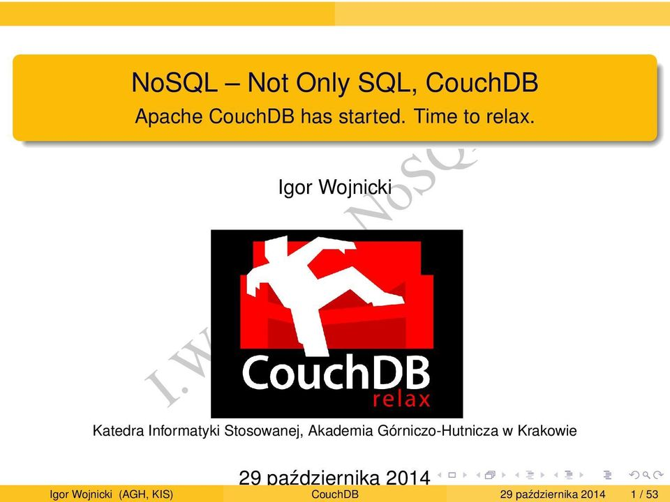 Apache CouchDB has started. Time to relax.