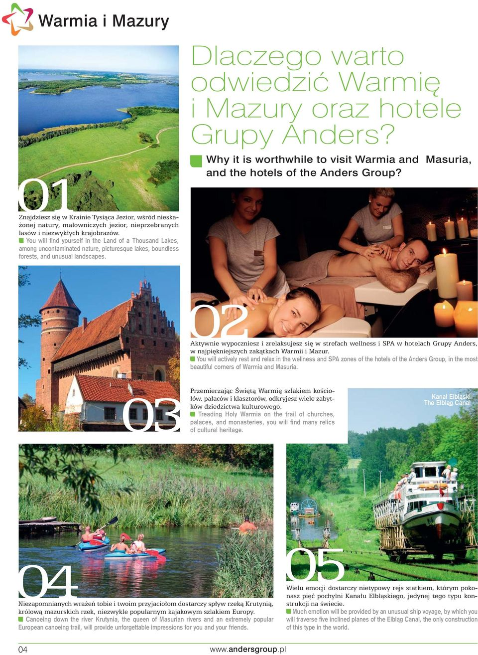 Dlaczego warto odwiedzić Warmię i Mazury oraz hotele Grupy Anders? Why it is worthwhile to visit Warmia and Masuria, and the hotels of the Anders Group?