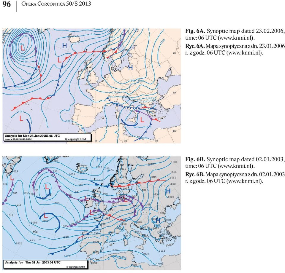 z godz. 06 UTC (www.knmi.nl). Fig. 6B. Synoptic map dated 02.01.