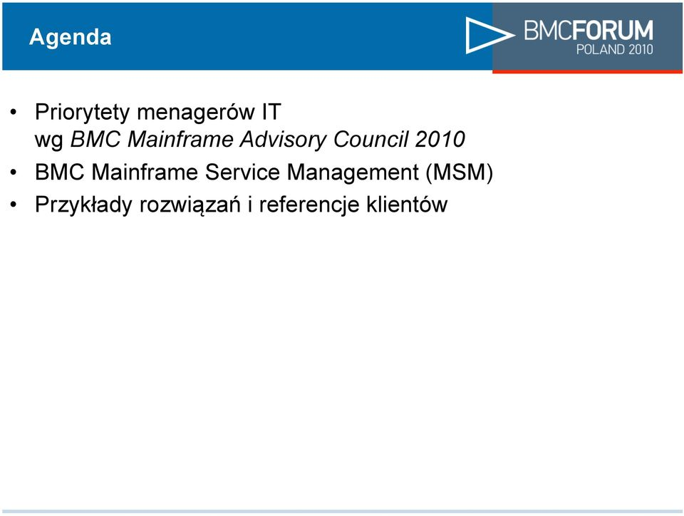 Mainframe Service Management (MSM)