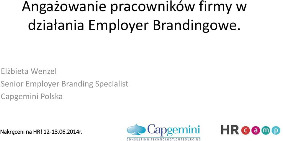 Elżbieta Wenzel Senior Employer