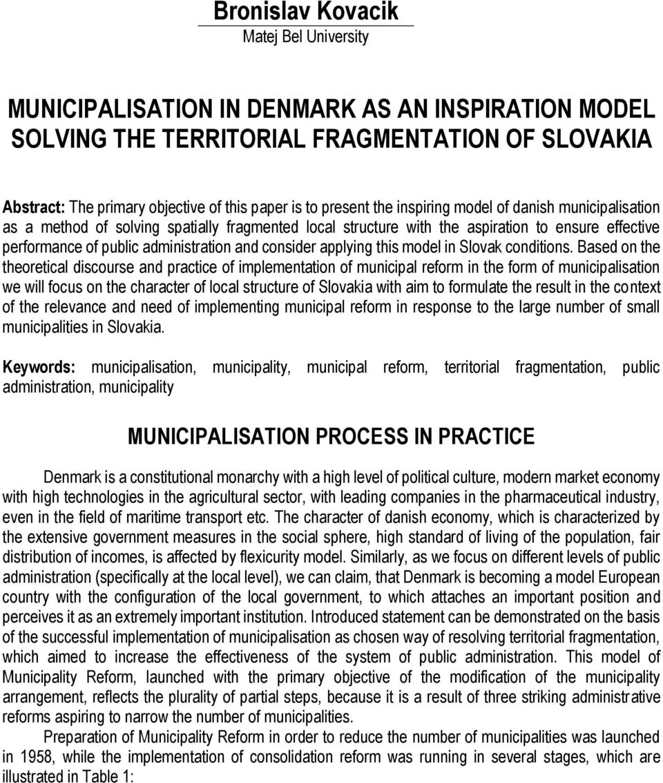 consider applying this model in Slovak conditions.