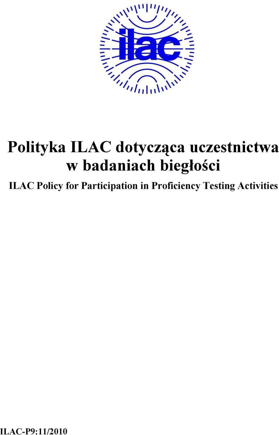ILAC Policy for Participation in