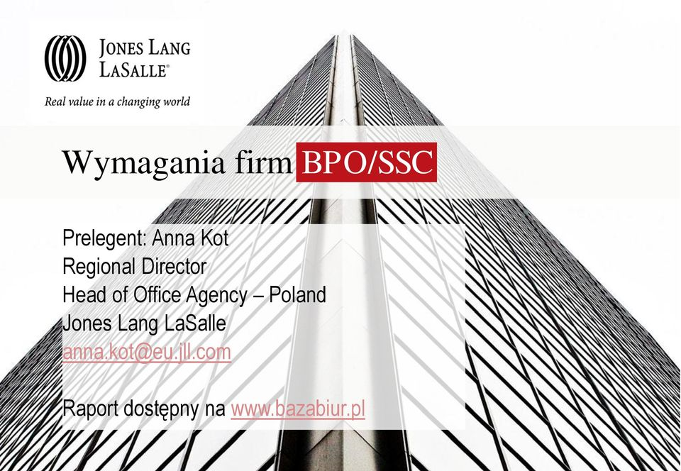 Agency Poland Jones Lang LaSalle anna.
