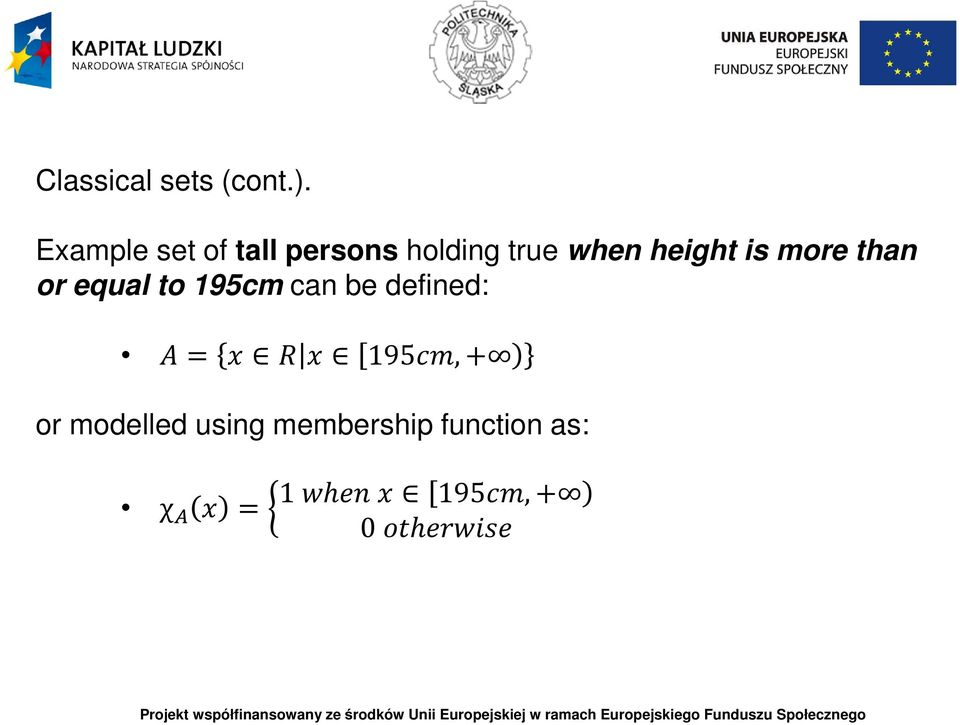 height is more than or equal to 195cm can be