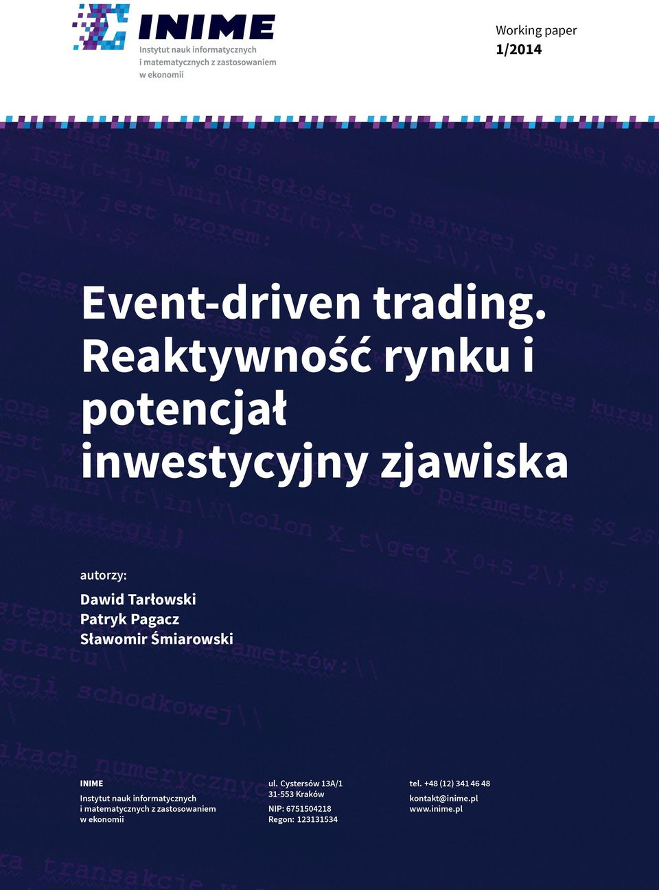 Event driven forex