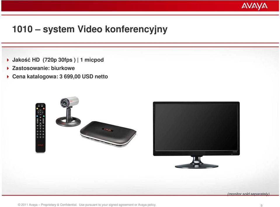 netto (monitor sold separately) 2011 Avaya Proprietary &