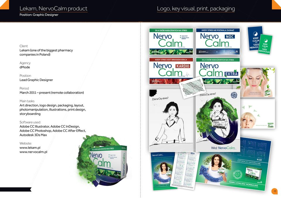 packaging, layout, photomanipulation, illustrations, print design, storyboarding Adobe CC Illustrator,