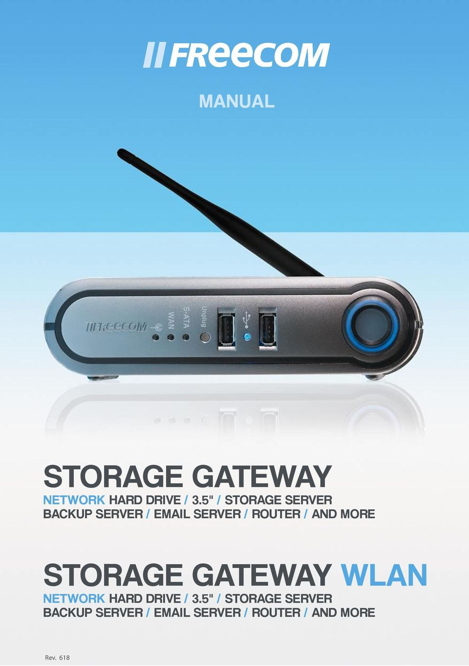 / AND MORE STORAGE GATEWAY WLAN NETWORK HARD DRIVE / 3.