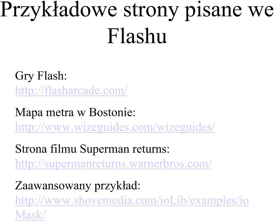 com/wizeguides/ Strona filmu Superman returns: