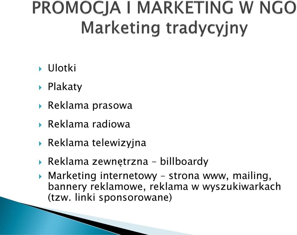 Marketing internetowy strona www, mailing, bannery