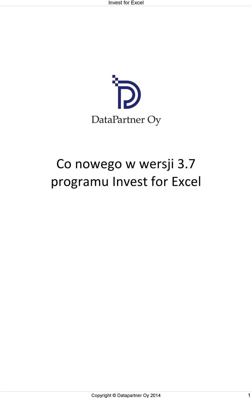 for Excel Copyright