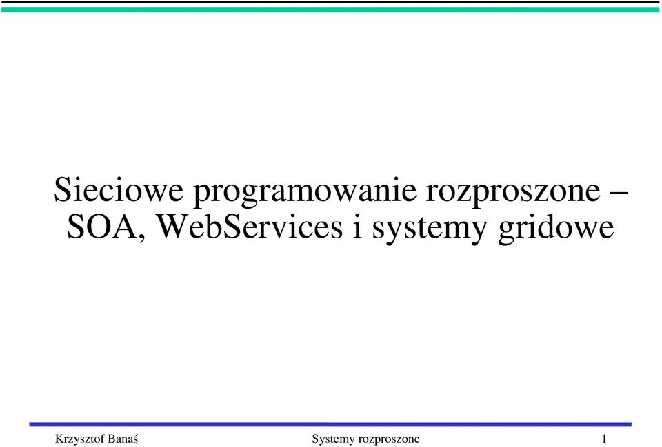 WebServices i systemy