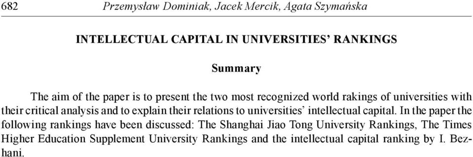 relations to universities intellectual capital.