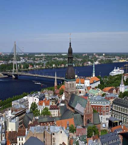 Latvia Location: Eastern Europe, bordering the Baltic Sea, between Estonia and Lithuania Capital: RIGA Area: 64,589 sq km (slightly larger than West Virginia) 2nd EU Top 5 countries by renewables 8th