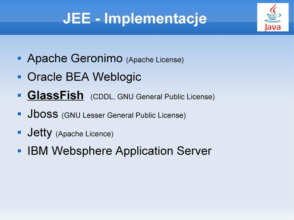Public License) Jboss (GNU Lesser General Public