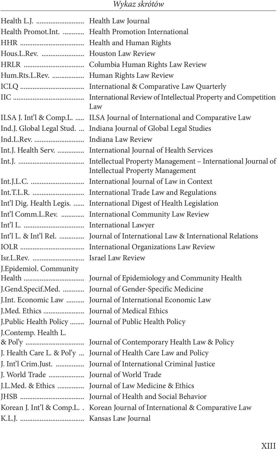 .. International Review of Intellectual Property and Competition Law ILSA J. Int l & Comp.L.... ILSA Journal of International and Comparative Law Ind.J. Global Legal Stud.