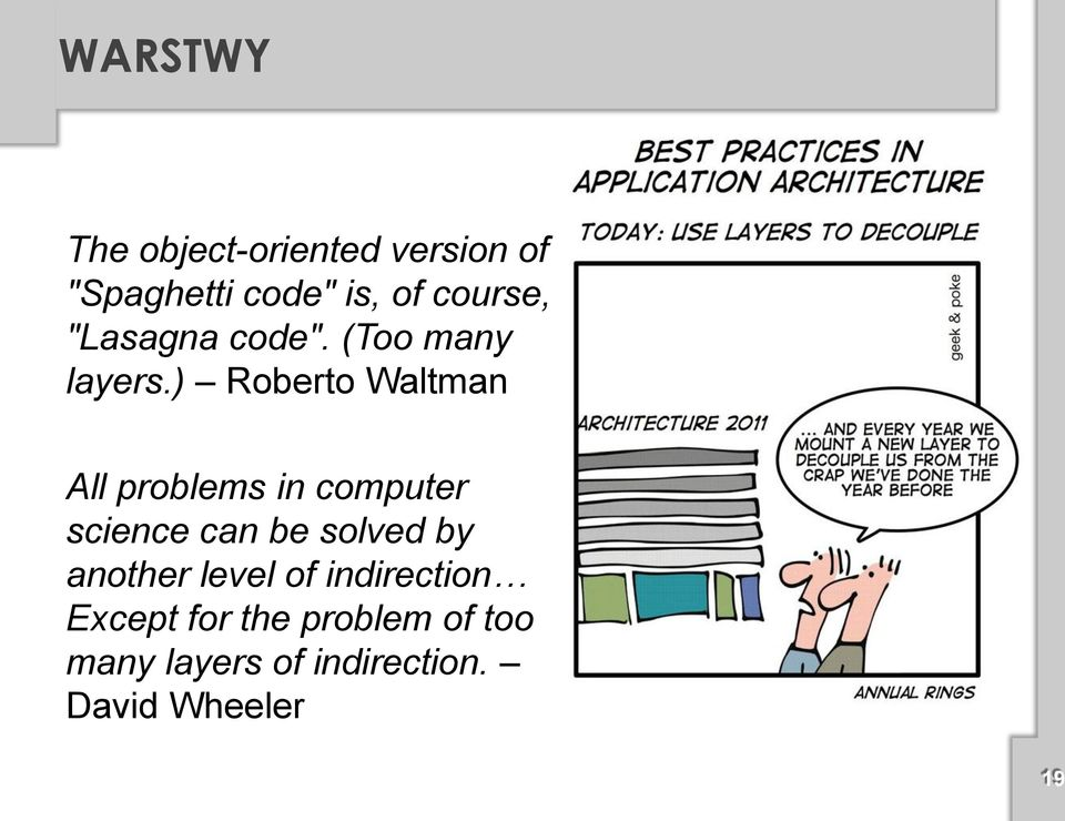 ) Roberto Waltman All problems in computer science can be solved by